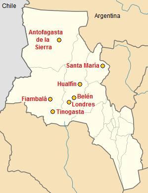Mapa alojamiento en Catamarca