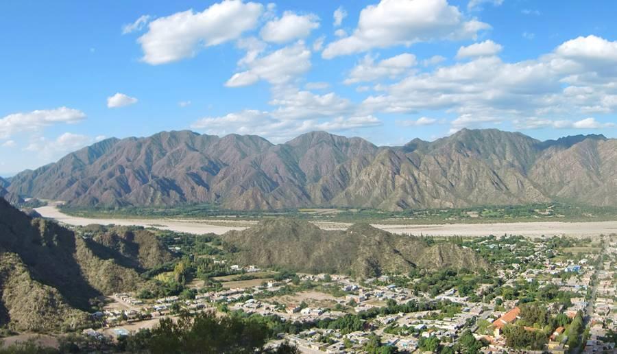 vista del norte de la ciudad de Belén Ruta 40