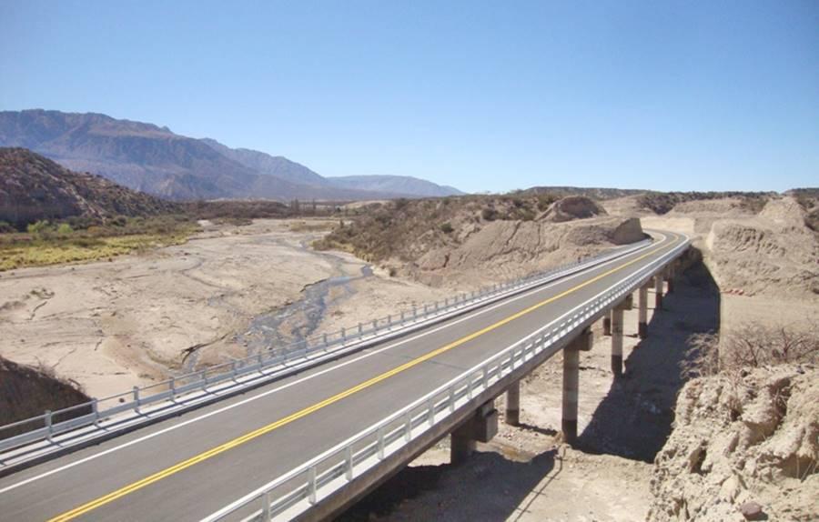 Nuevo Puente río Las Cuevas, Nacimientos Ruta 40
