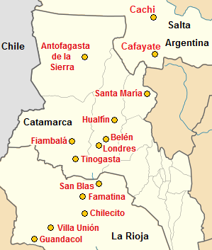 Map with some towns near El Shinkal
