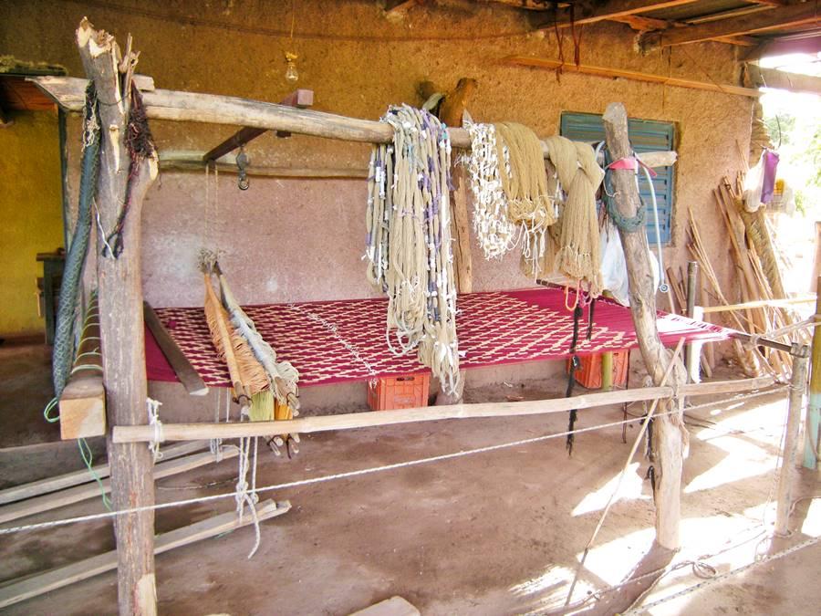 Telar manual para tejidos artesanales