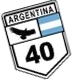 Ruta 40 road shield