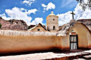 view of the Historic Site, the chapel at Susques, Jujuy