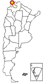 Map of Argentina showing where Cusi Cusi is located
