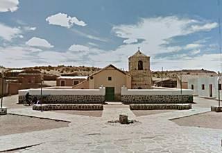 Huancar church seen from Ruta 40
