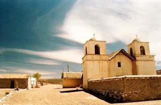 view of the church at Tafna, Jujuy