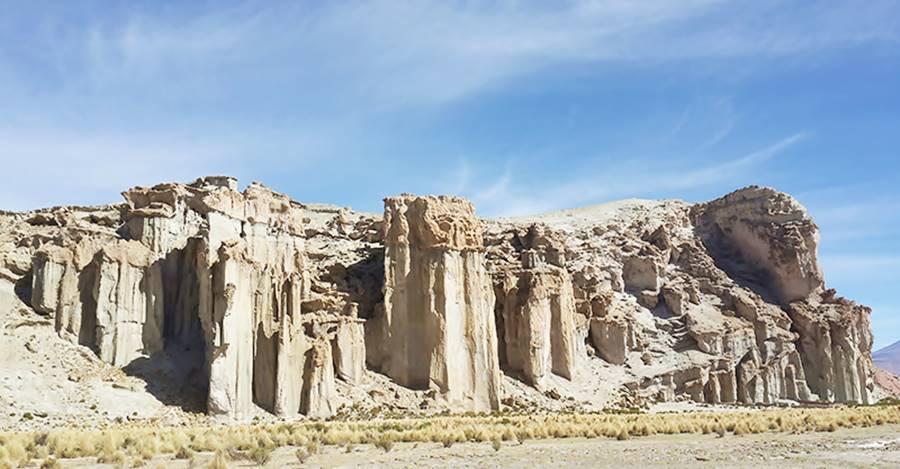 Rock formations at Mina Pirquitas Ruta 40 Jujuy
