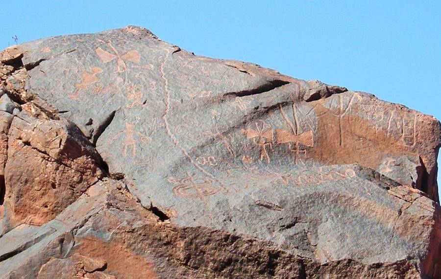 Rock art at Puerta de Talampaya, Talampaya, La Rioja