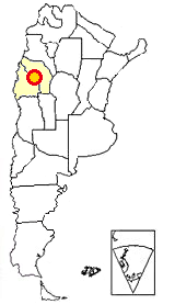 Map of Argentina showing where Talampaya is located