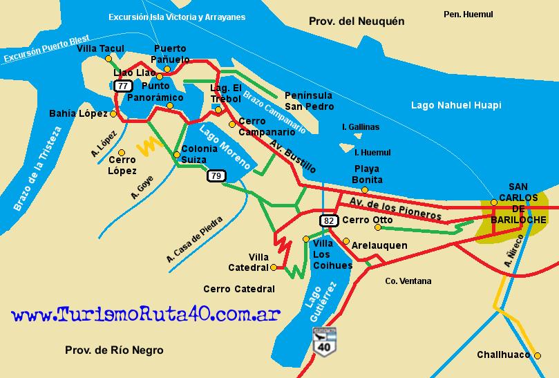 Circuito Grande Bariloche : Bariloche ruta