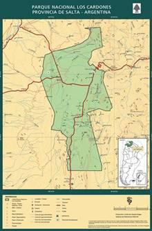 mapa Parque Nacional Los Cardones
