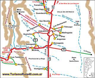 Mapa de Chilecito clickear para agrandar
