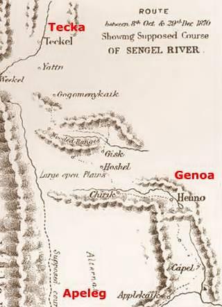 Mapa de Musters, Chubut de 1870