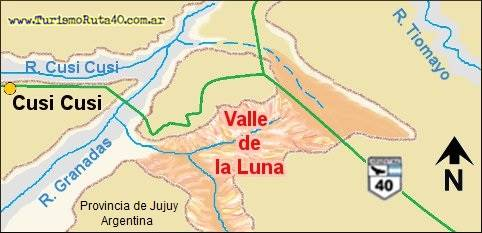 Plan of the Moon - Mars Valley in Cusi Cusi