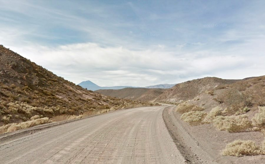 Gravel and washboard road surface Ruta 40, Mendoza