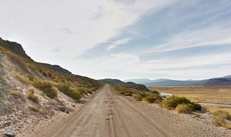 Potholes on Ruta 40 in the south of  Mendoza