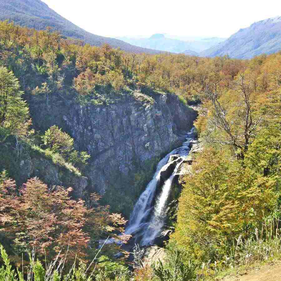 Vullinanco Waterfall in Neuquén, Ruta 40, Seven Lakes Road