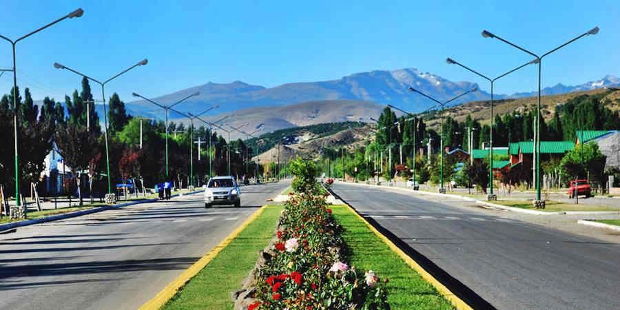 vista de la Ruta 40 en Junín de los Andes