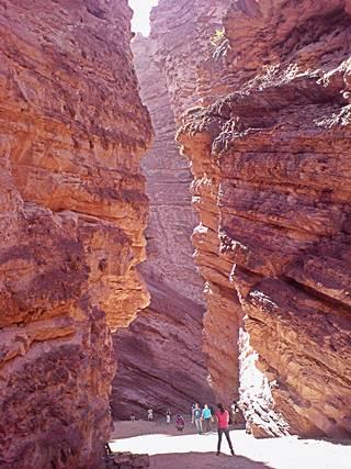 El Anfiteatro, narrow canyon of red banded rock, Cafayate, Salta