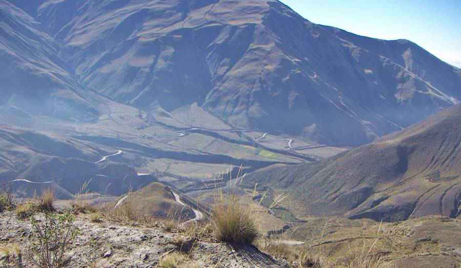 Vista de la Cuesta del Obispo, Salta