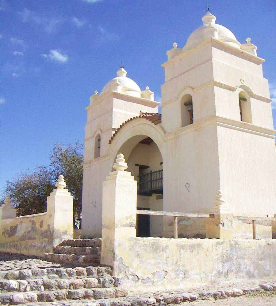 Iglesia histórica en Molinos Salta, Ruta 40