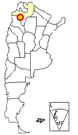 Map of Argentina showing where Quebrada de las Flechas is located