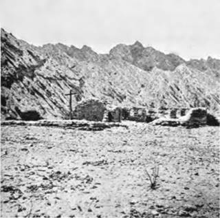 Photo from 1897 of the mission ruins