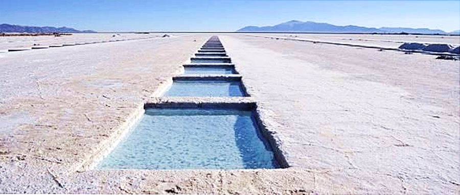 salt evaporation pond at Salinas Grandes