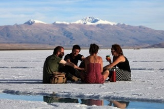 tourists in ths Salinas Grandes